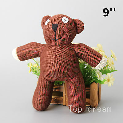 Funny Mr Bean Teddy Bear Stuffed Plush Soft Figure Doll Toy 9'' Kids Gift Ted
