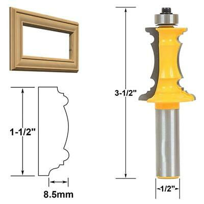 Mitered Door Picture Mirror Frame Molding Router Bit 1/2-Inch Shank