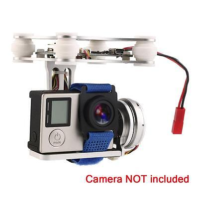 Silver FPV 2 Axle Brushless Gimbal With Controller For DJI Phantom GoPro 3 4 WC