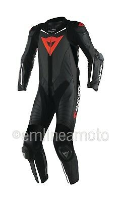 Leather Suit Dainese Laguna Seca D1 1PC Professional Estiva Black/Black/White