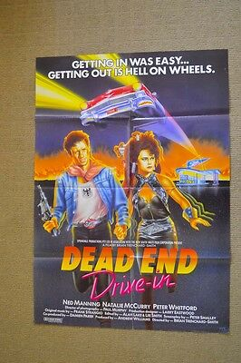 1986 Dead End Drive-in Original OZPLOITATION  Brian Trenchard-Smith CULT Poster