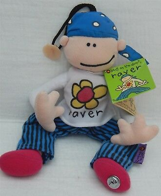 Bang On The Door 'raver' Collectable Beanie Soft Toy, Golden Bear Ltd 1999
