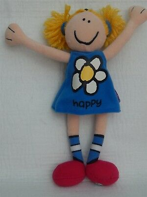 Bang On The Door 'happy' Collectable Beanie Soft Toy, Golden Bear Ltd 1999