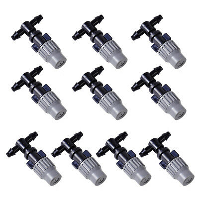 10pcs Misting Atomizing Sprinkler Nozzles Tee for Greenhouse Garden Lawn Grass