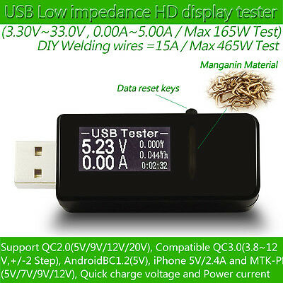 7 in 1 USB tester DC Digital voltmeter amperimetro current voltage meter amp