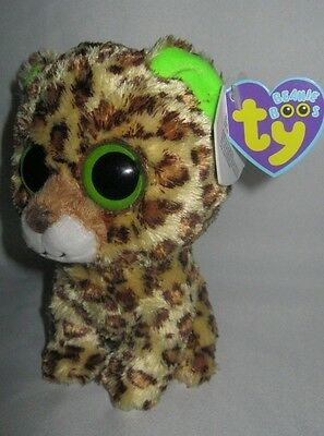 Ty Speckles The Leopard - Original Beanie Boo With Purple Tag - Rare & Retired