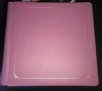 Creative Memories Original 12x12 Pink Album Incl Heaps Of Pages & Page Covers