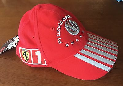Official MICHAEL SCHUMACHER FERRARI RED CAP (Un-worn & Collectable)