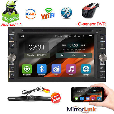 """Android 6.0 Double 2Din 6.2"""" Car Stereo Radio GPS WiFi 4G BT DVD Player+DVR+CAM"""
