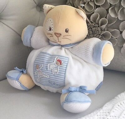 Brand New - Kaloo Soft Blue Medium Chubby Cat with Gift B