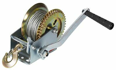 600LB MANUAL BOAT MARINE TRAILER HAND POWERED WINCH + 6m HOOK