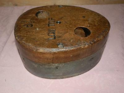 Vintage/Antique Wooden Hat Block, Milliners Stand.Shop Display (TRILBY)
