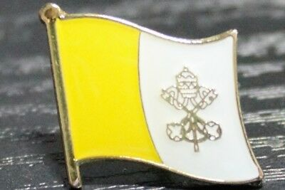 VATICAN CITY Vatican Country Metal Flag Lapel Pin Badge *NEW*