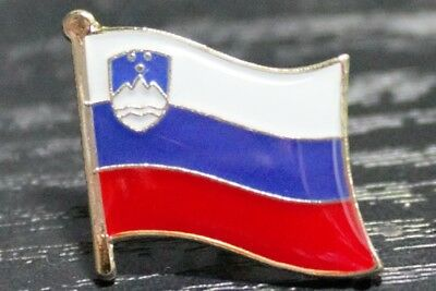 Superior SLOVENIA Slovenian Country Metal Flag Lapel Pin Badge *NEW*