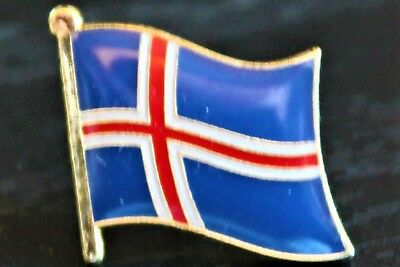 ICELAND Icelandic Country Metal Flag Lapel Pin Badge *NEW*