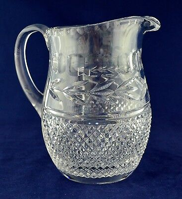 "Galway Crystal ""LEAH"" Water Jug - 19cms (7-1/2"") Tall"