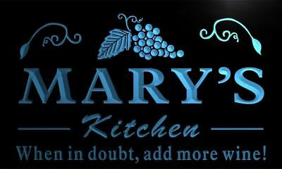 x2001-tm Mary's Kitchen Custom Personalized Name Neon Sign