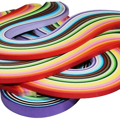 1/2/3/4/5 Pack Assorted Multi colour Quilling Paper 250 Strips ! 25 Colours