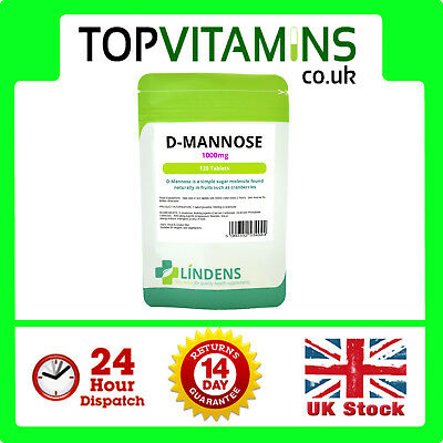 D-Mannose 1000mg 120 Tablets ✰ Aids Healthy Urinary Tract Cystitis Relief UTI ✰