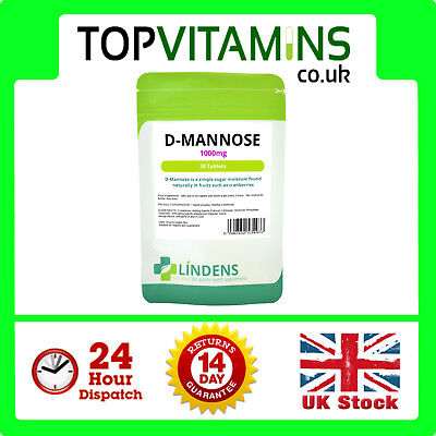 D-Mannose 1000mg 30 Tablets ✰ Aids Healthy Urinary Tract Cystitis Relief UTI ✰