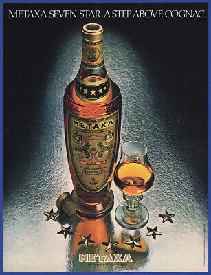 Vintage 1982 METAXA Greek Brandy First Alcohol in Space Liquor Print Ad 1980's