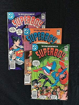 The new adventures of Superboy comic book lot of 3 DC 1980 Nice!