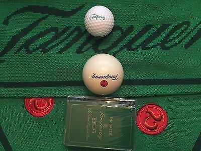 Tanqueray Balls!! & More! Cue Ball-Golf Ball-Playing Cards Scarf Gift Set Rare!