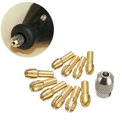 10x Brass Collet Drill Chuck 0.5-3.2mm Rotary Drill Collect Chuck Holder