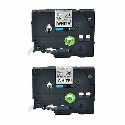 2PK TZe S231 TZ S231 Black On White Label Tape For Brother P-Touch PT-11Q 12mm