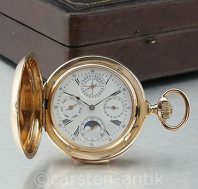 Grand Komplikation Ewiger Kalender Minutenrepetition Mondphase 18k Gold 1895