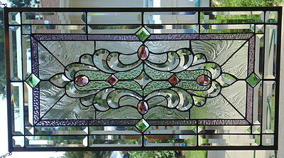 Stained Glass window hanging 30 X 16