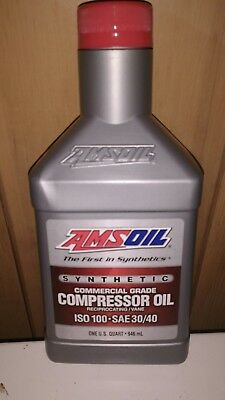 AMSOIL Synthetic Air Compressor Oil ISO-100 Commercial Grade 946 mL 1 QT