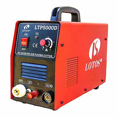 Pilot Arc Plasma Cutter Lotos LTP5000D Dual Voltage 50 Amp 110V/220V Compact New
