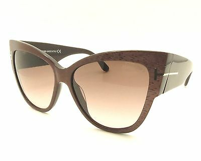 131ee55b05 TOM FORD TF 371 Anoushka 50F Brown Gradient New Authentic Sunglasses rl817