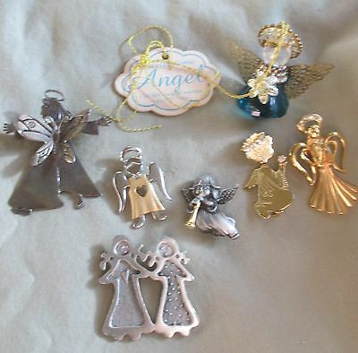Lot of 7 Vintage Angel Pins & Decorative Items