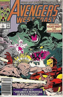 Marvel Comics Avengers West Coast No. 77 (Australian Newsstand) 1991 Very Good