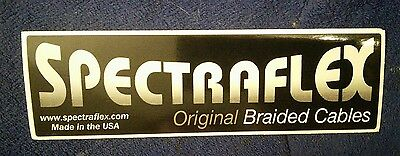 "set of 2 Spectraflex Cables bumper stickers 2"" by 7"" black vinyl NICE"