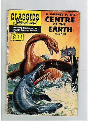 CLASSICS ILLUSTRATED COMIC No. 24 Journey to the Centre of the Earth 1/3 HRN 138