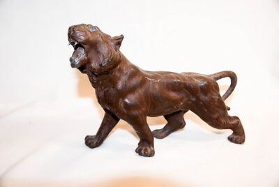 Vintage 1930S Large Lead Metal Tiger Figure