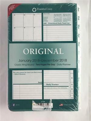 2018 Franklin Covey Original Classic Ring Bound 2 Pages Per Day Planner Refill