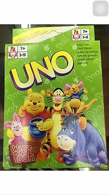 winnie the pooth uno CARDS Family Fun Playing Card Educational Theme Board Game
