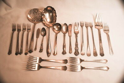 Vintage Victorian & 1900 Mixed Silver Flatware Lot #2