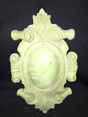 "1930's 15 1/4"" Carved Wood Pediment"