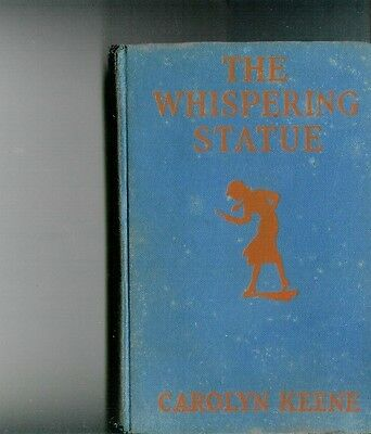 """"""" The Whispering Statue"""" Nancy Drew Blue Book  1937  ? 1St Edition"""
