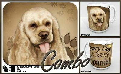 """Cocker Spaniel """"for Dog Lovers Only"""" Mouse Pad and Mug Combo Set"""