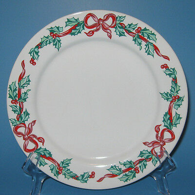 International Tableworks CHRISTMAS RIBBONS Salad Plate (s)