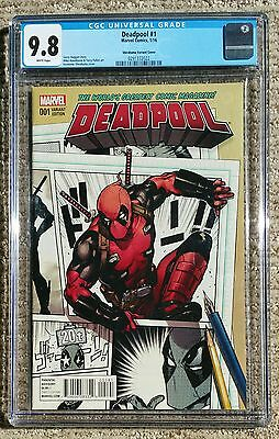 Deadpool #1 - Karmome Shirahama - Marvel 2016 - CGC Grade 9.8 - NM/MT Near Mint