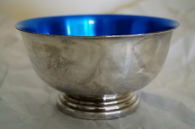 Newport Silverplate YB76 Revere Bowl with Blue interior