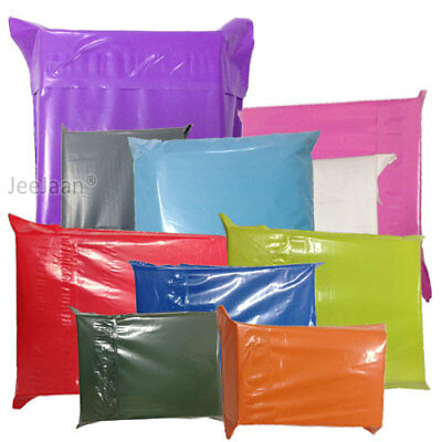 Strong Grey & Coloured Plastic Mailing Post Poly Postage Bags Self Seal JEEJAAN