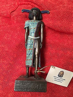 Ancient Egypt Small Bronze Resin Libyan Or Hyksos Figurine Statue Candle Holder